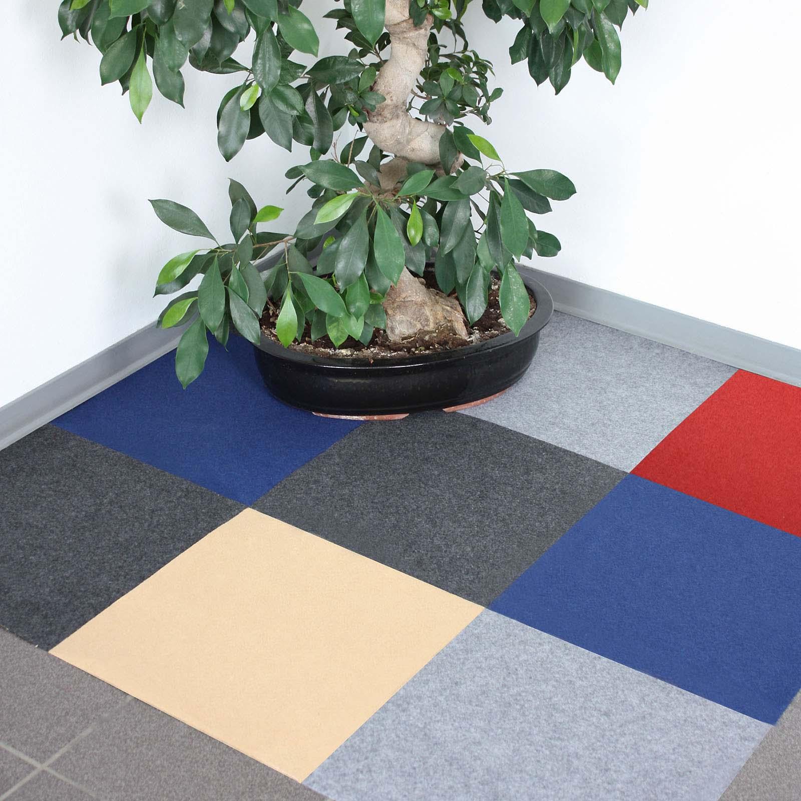teppichfliese nadelfilz 40x40cm selbstklebend teppichfliesen teppich 4 farben ebay. Black Bedroom Furniture Sets. Home Design Ideas