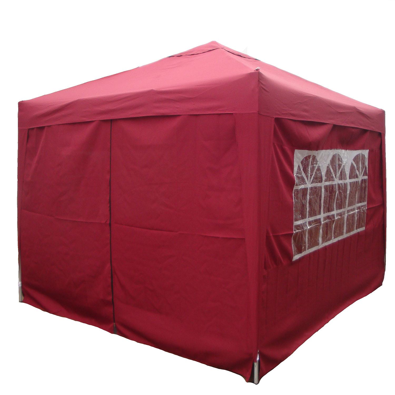 zelt falt pavillon partyzelt ruckzuck zelt 3x3m mit 4. Black Bedroom Furniture Sets. Home Design Ideas