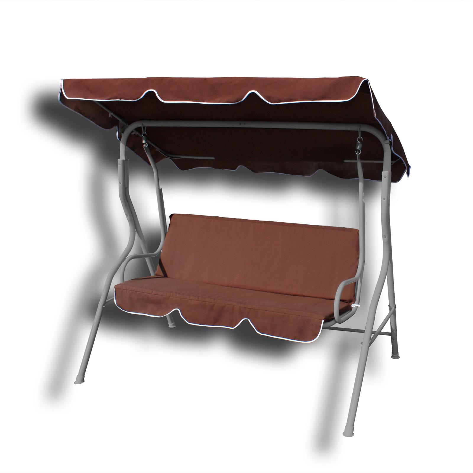 gartenliege hollywoodschaukel schaukel 3 sitzer 7 verschiedene farbvarianten. Black Bedroom Furniture Sets. Home Design Ideas