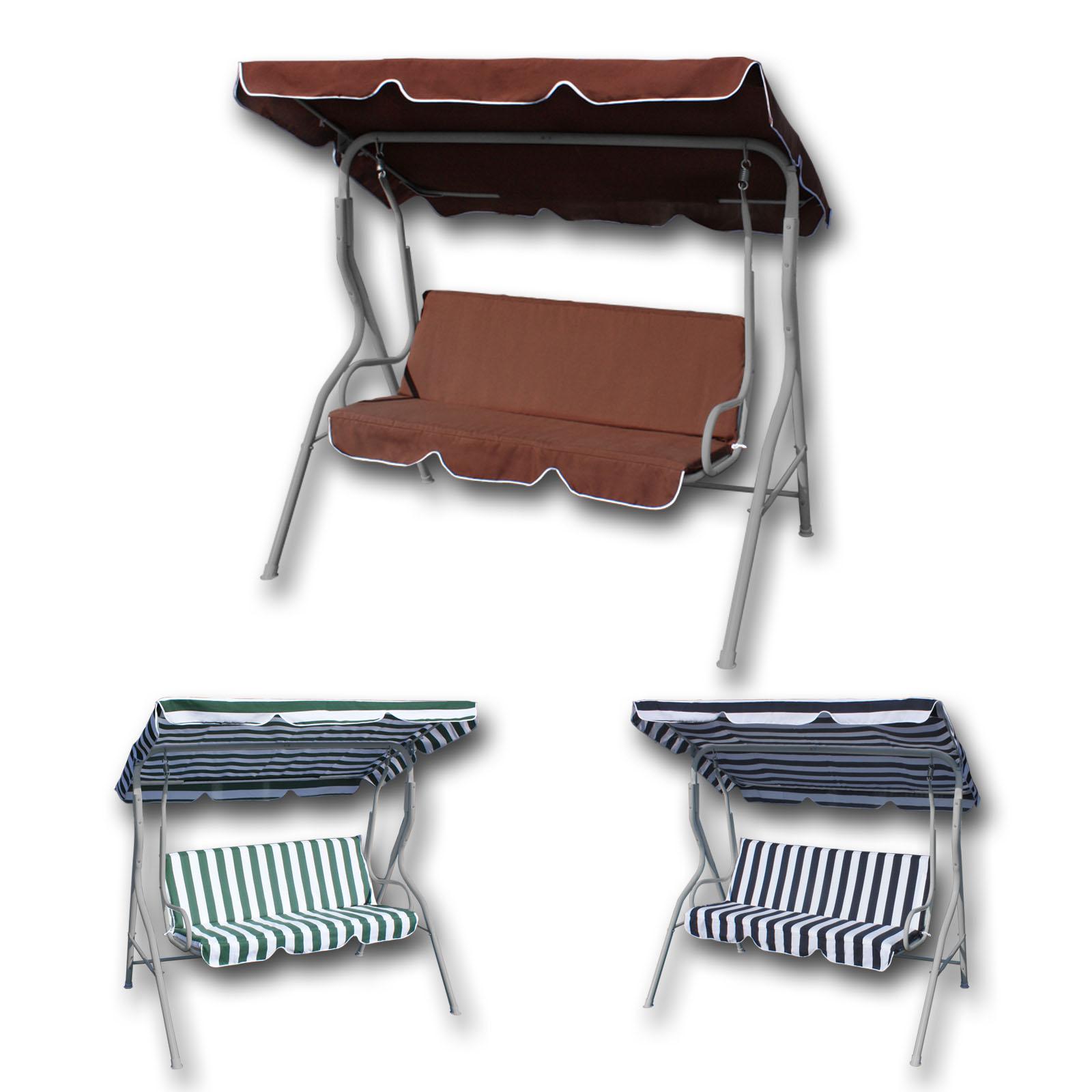 gartenliege hollywoodschaukel schaukel 3 sitzer 3 verschiedene farbvarianten ebay. Black Bedroom Furniture Sets. Home Design Ideas