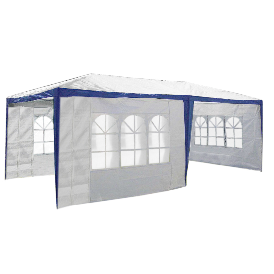partyzelt festzelt pavillon gartenzelt 3x6m mit allen 6 seitenteilen wasserdicht ebay. Black Bedroom Furniture Sets. Home Design Ideas