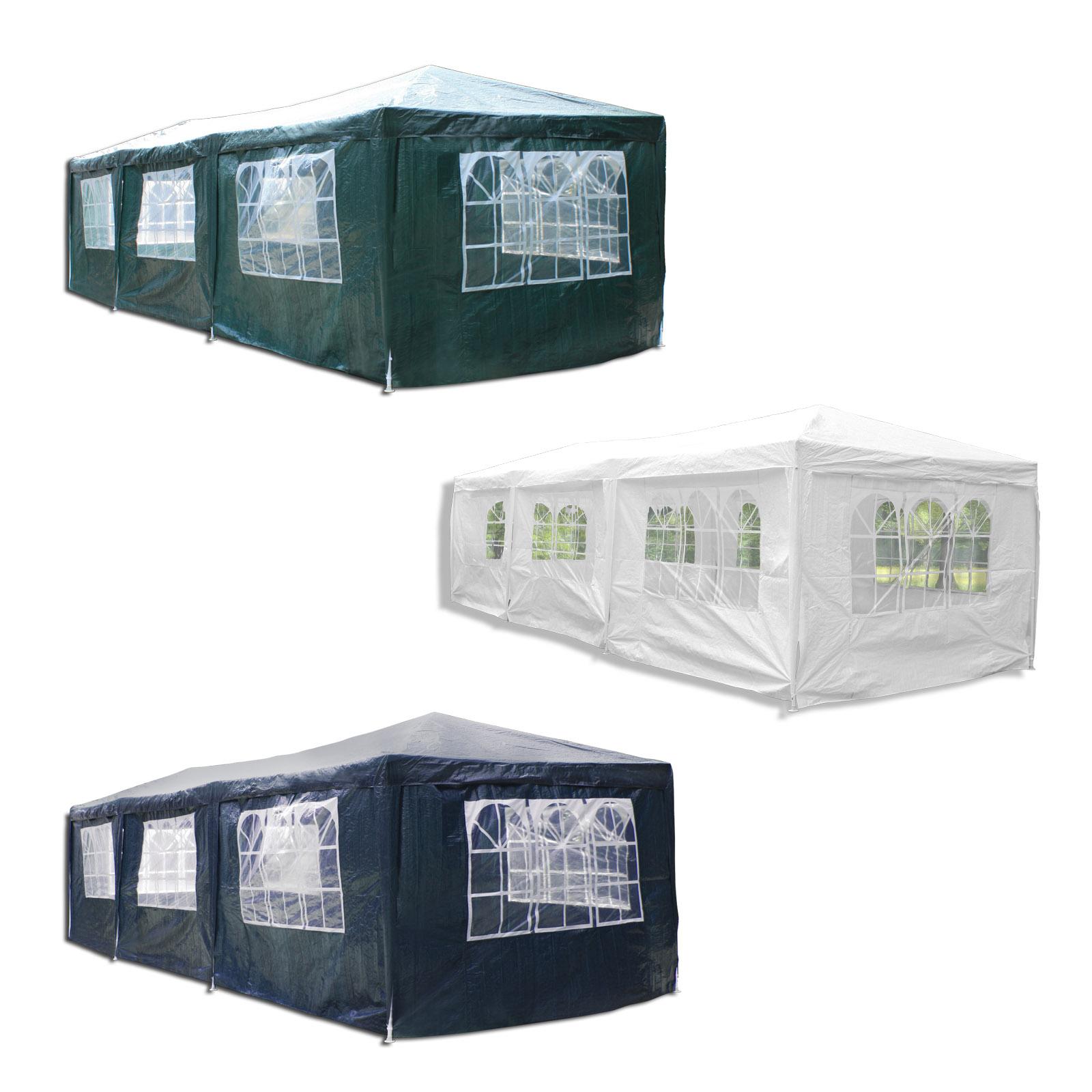 partyzelt festzelt pavillon gartenzelt 3x6m mit allen 6 seitenteilen wasserdicht. Black Bedroom Furniture Sets. Home Design Ideas