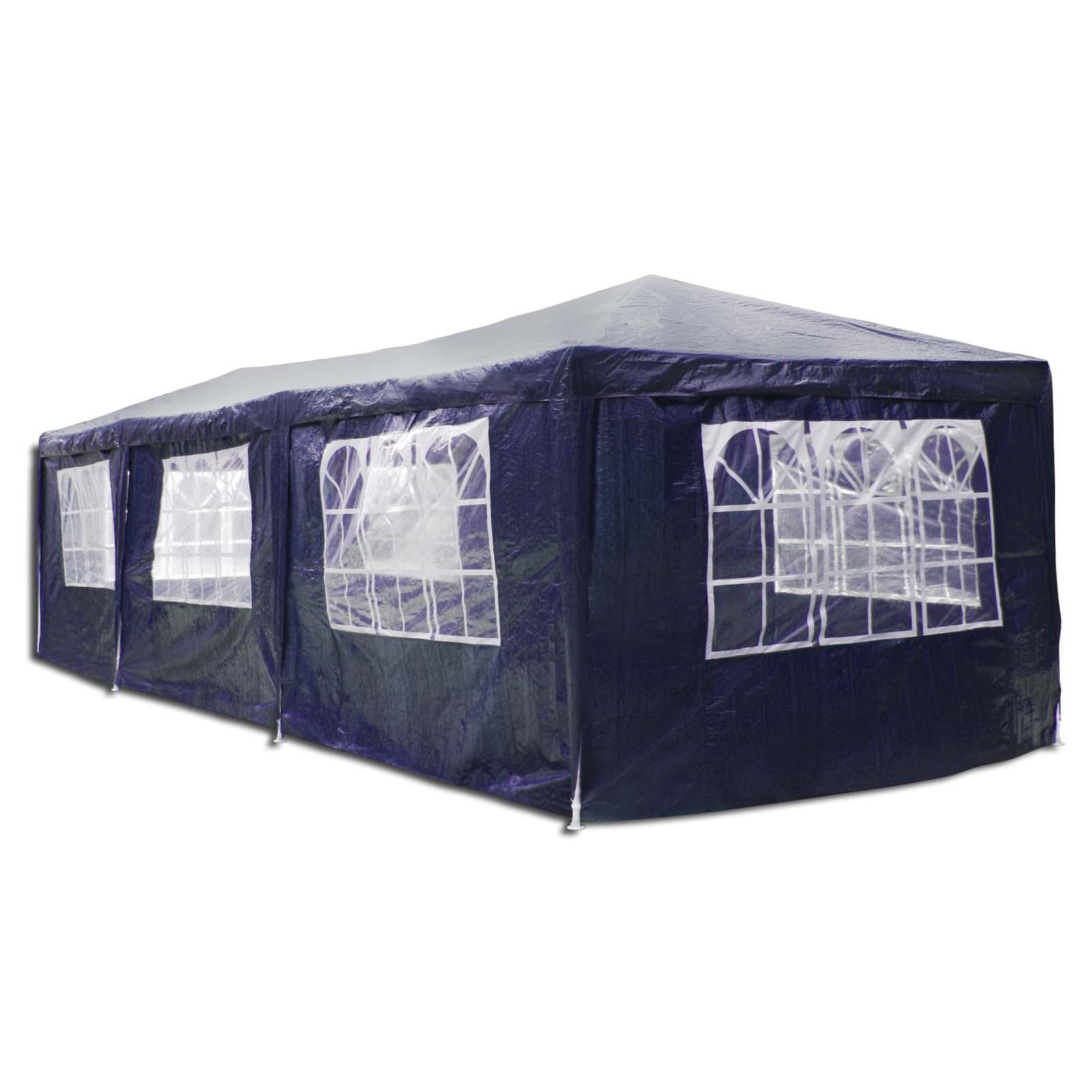 partyzelt 3x9 m komplett mit allen seitenteilen in 3 farben ebay. Black Bedroom Furniture Sets. Home Design Ideas