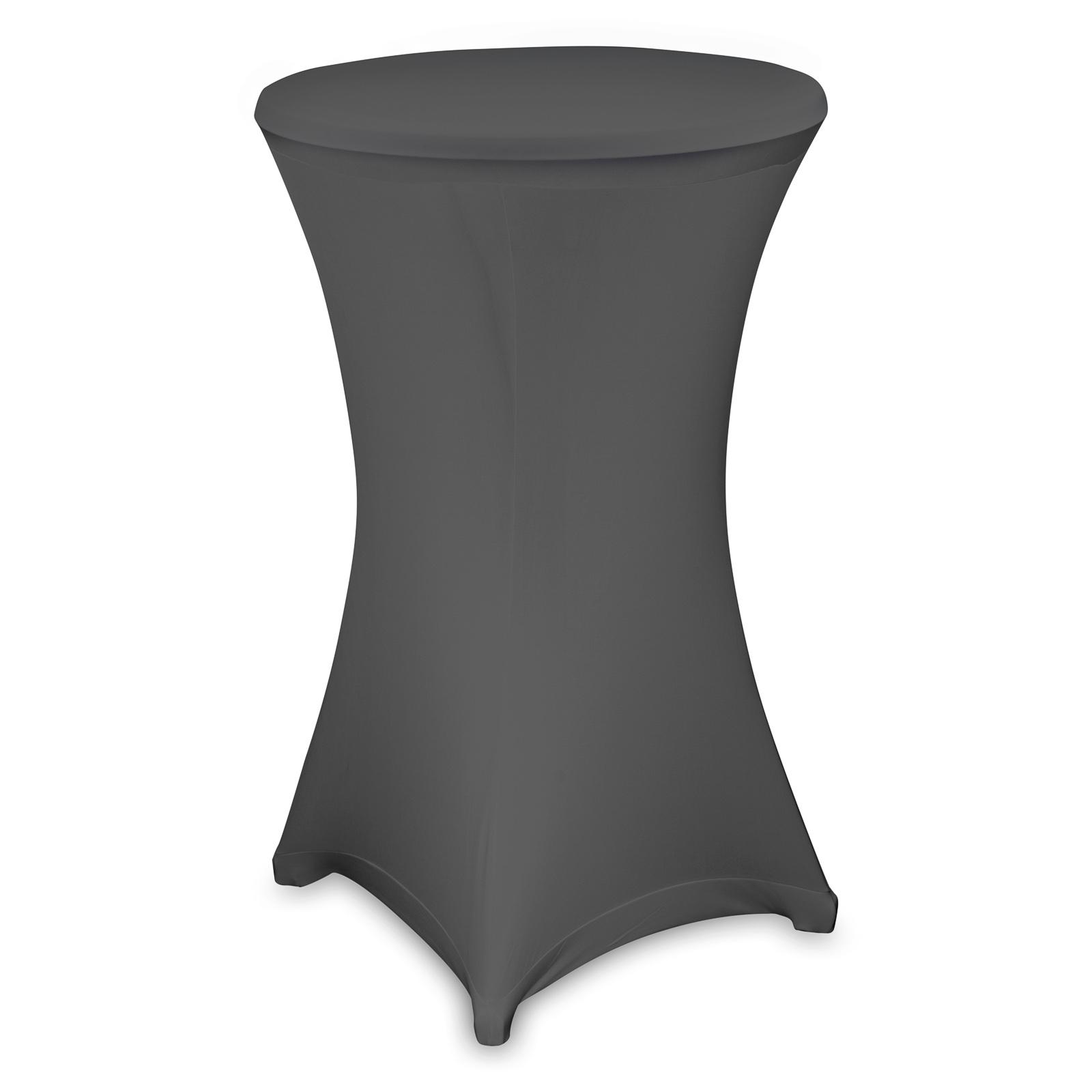 stehtischhussen stretch husse f r stehtisch bistrotisch drei tischgr en ebay. Black Bedroom Furniture Sets. Home Design Ideas