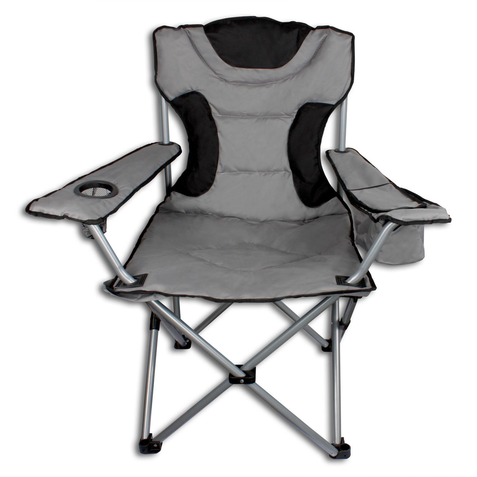 campingstuhl klappstuhl faltstuhl gepolstert inkl. Black Bedroom Furniture Sets. Home Design Ideas