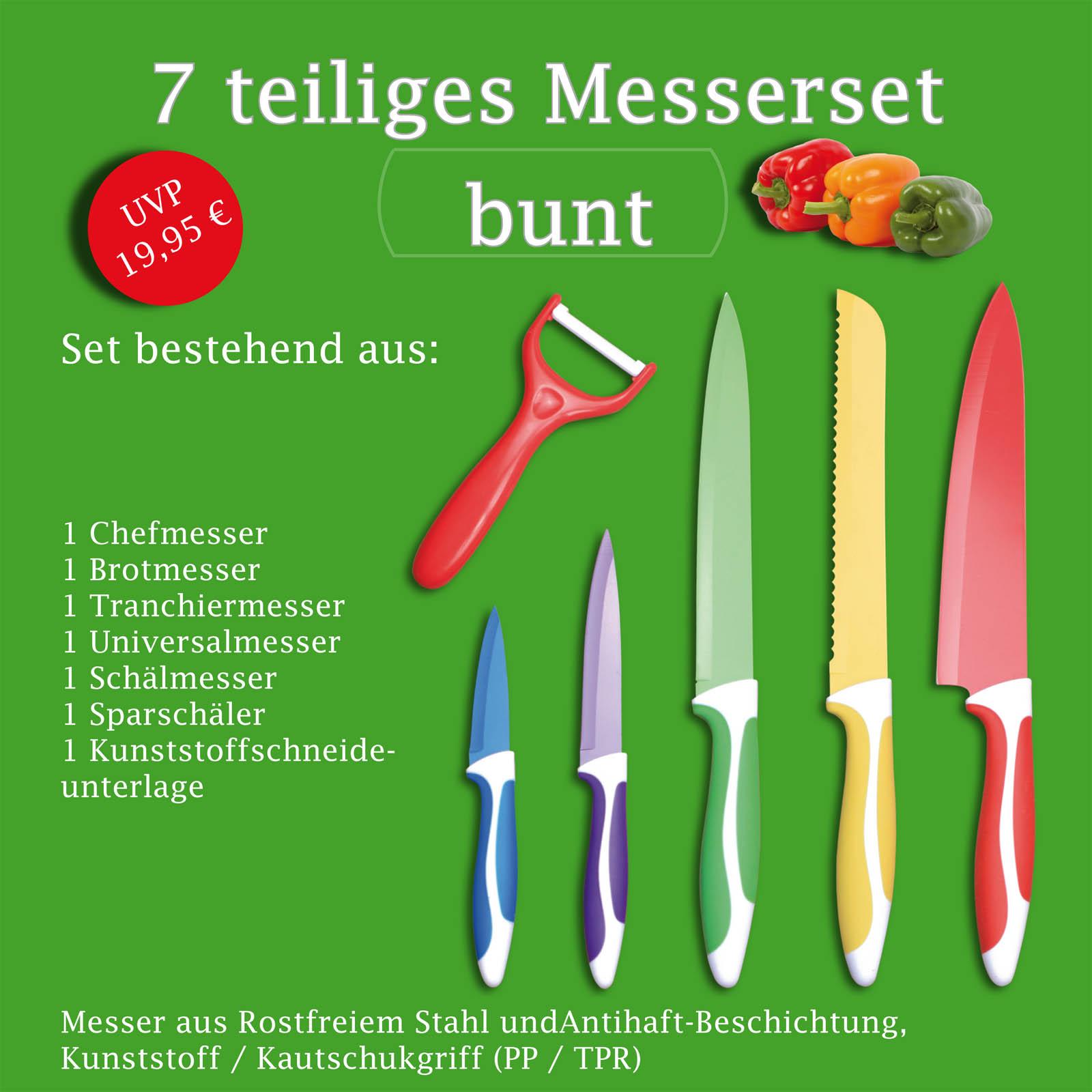 Große Auswahl an Messerset Küchenmesser Schneidemesser Messer Edelstahlklinge