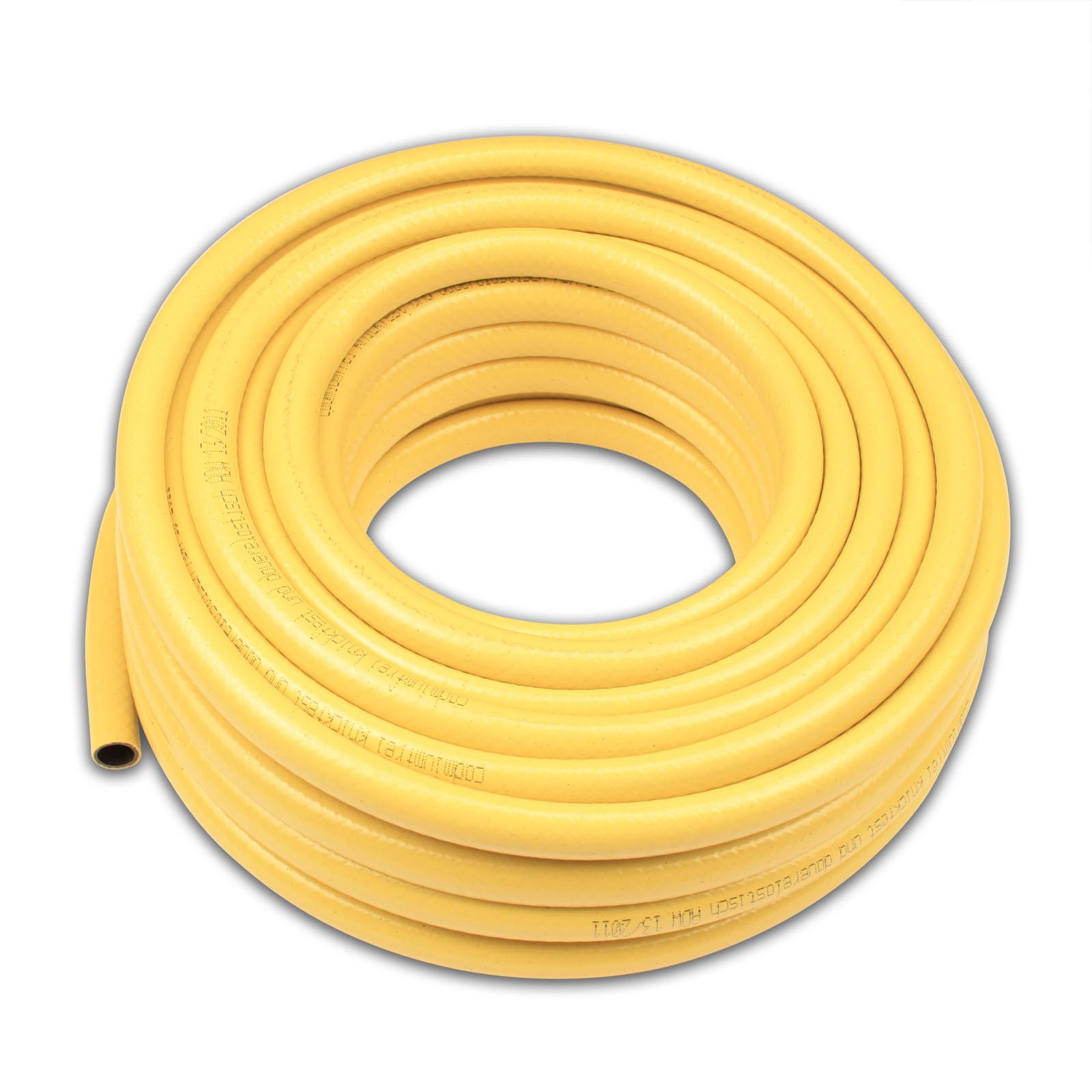 20 meter schlauch gartenschlauch wasserschlauch 1 2 zoll farbe gelb plus zubeh r ebay. Black Bedroom Furniture Sets. Home Design Ideas