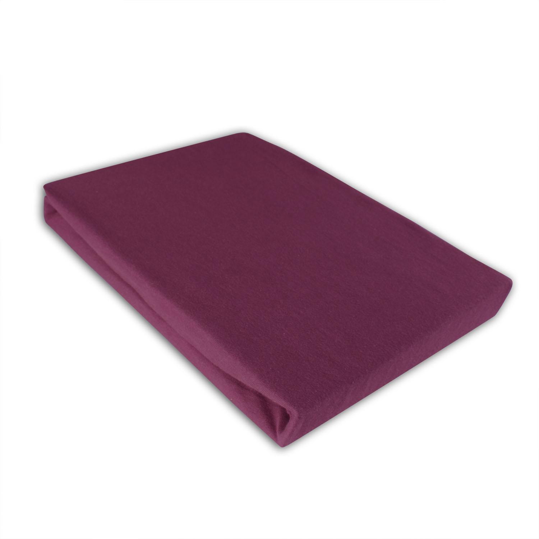 jersey spannbettlaken 100 baumwolle 5 gr en 14 farben ebay. Black Bedroom Furniture Sets. Home Design Ideas