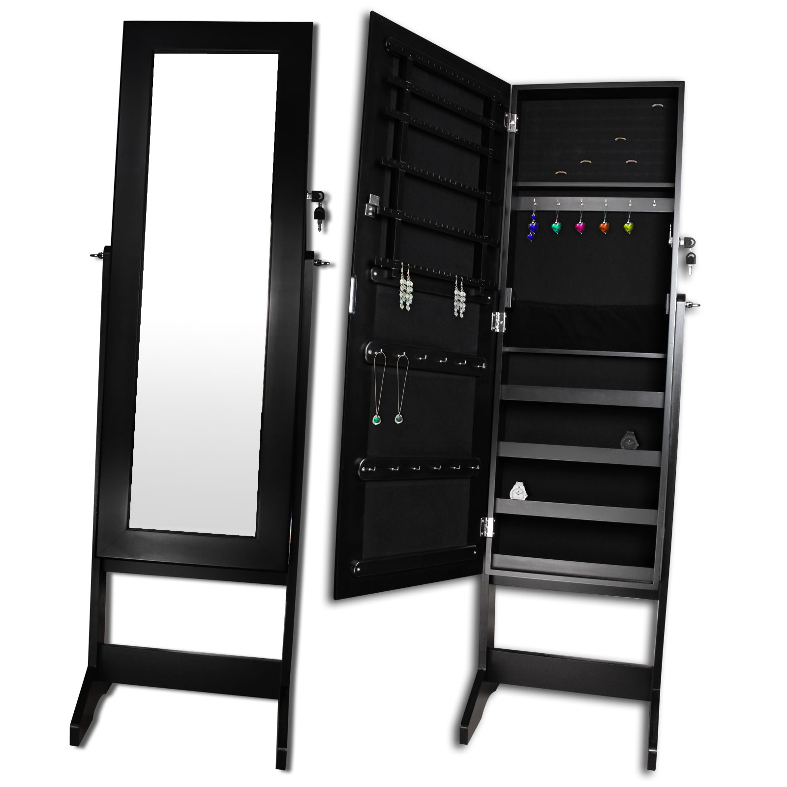 xxl spiegel schmuckschrank spiegelschrank standspiegel schmuck schrank posten ebay. Black Bedroom Furniture Sets. Home Design Ideas