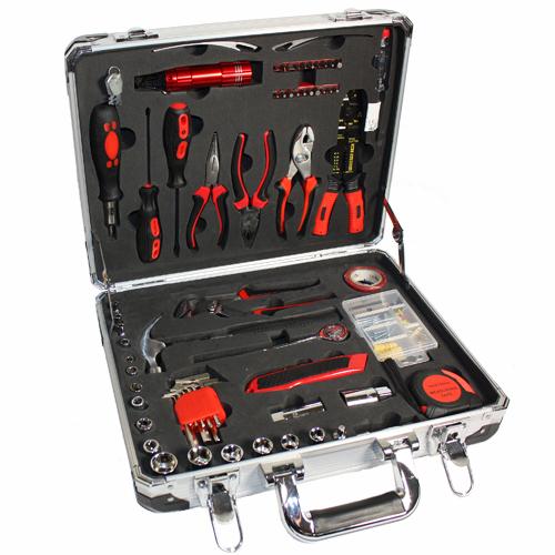 Werkzeugkoffer-179tlg-im-Aluminium-Koffer-mit-Schluessel-WOW