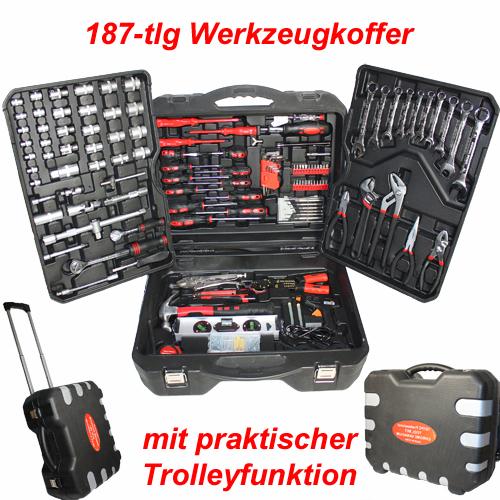 187-TLG-Werkzeugkoffer-Werkzeugkiste-Chrom-Vanadium-CV-Schluesselsaetze-Blowcase