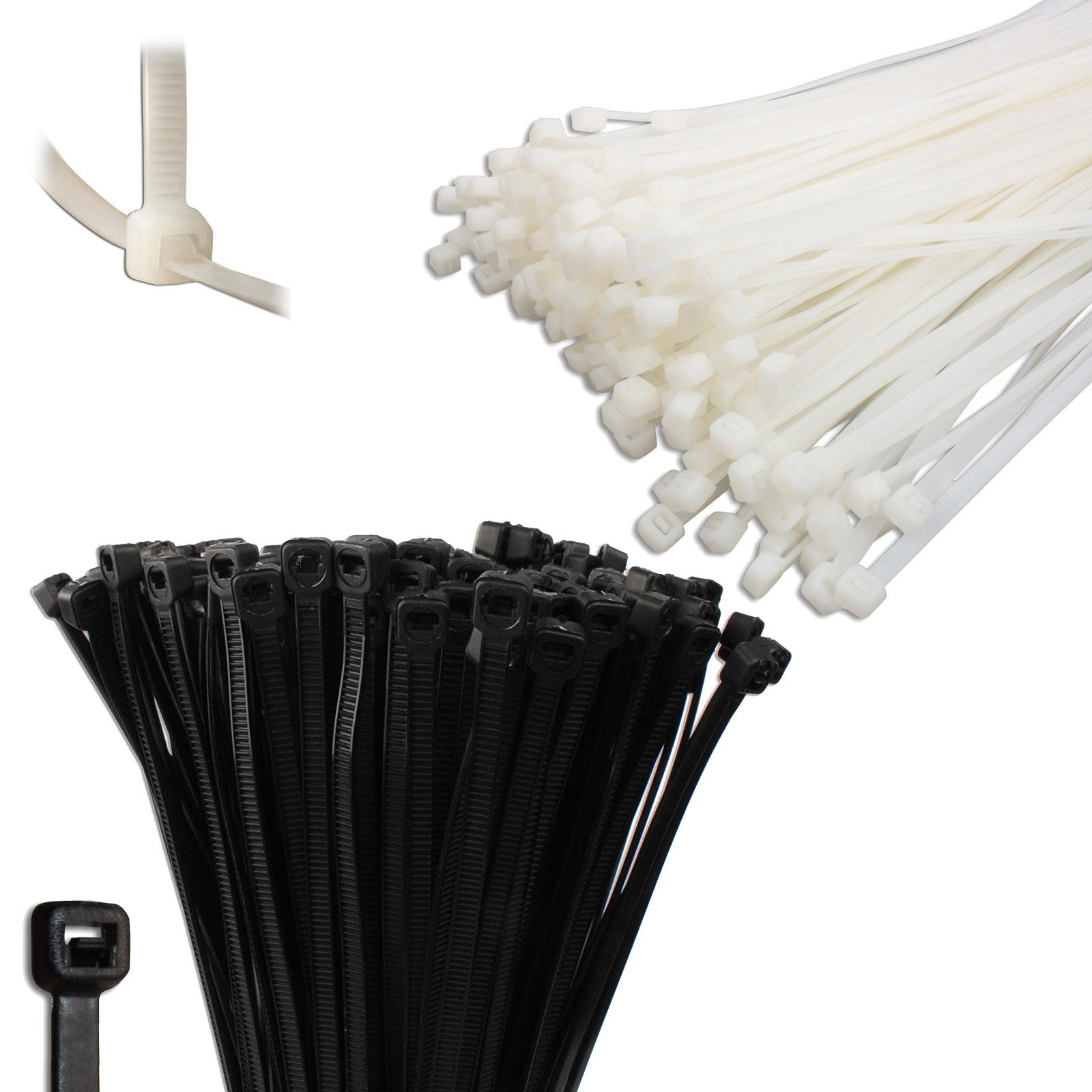 Kabelbinder UV-Beständig Industrie Kabelband Schwarz Weiß Natur ...