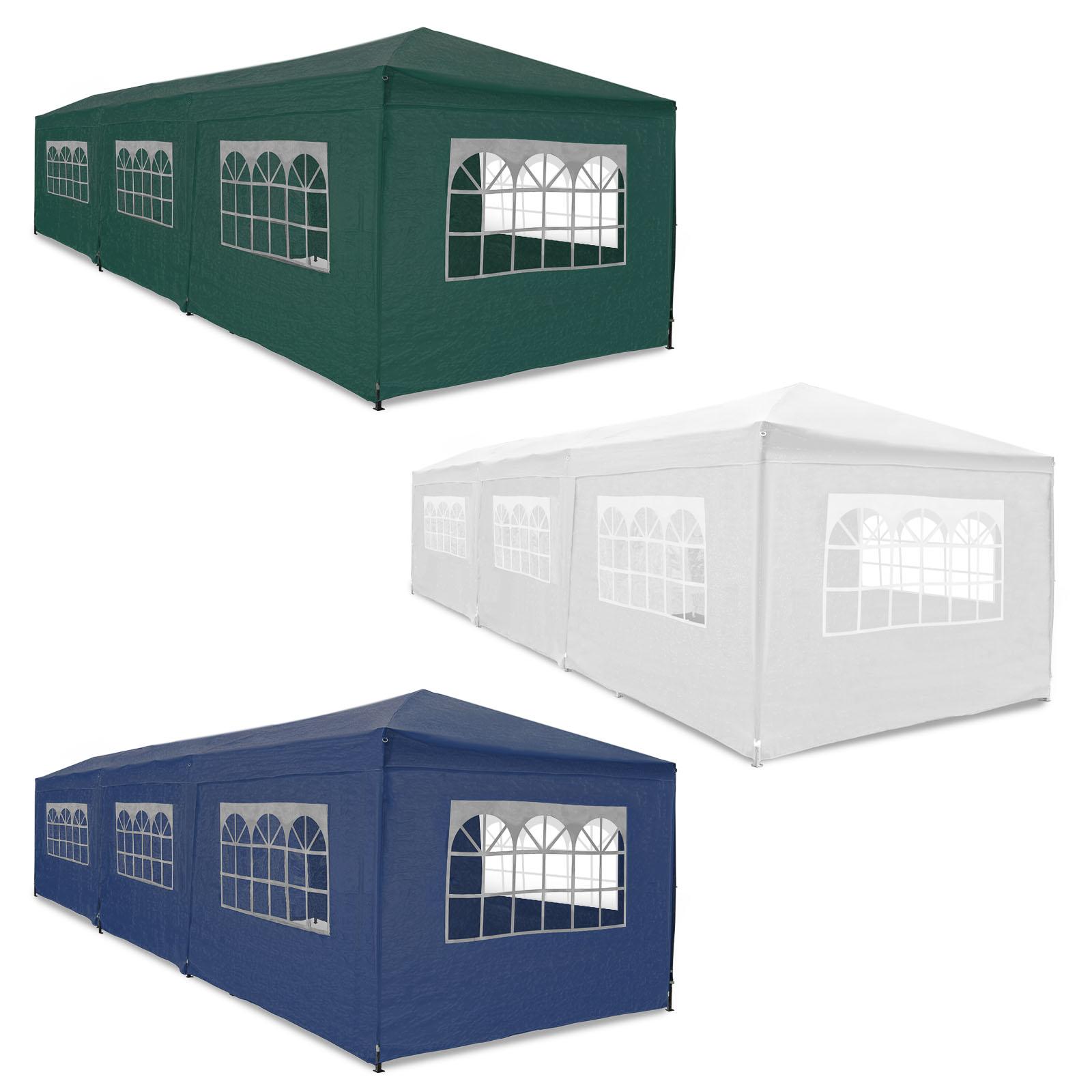 partyzelt festzelt pavillon gartenzelt 3x6m mit allen 6 seitenteilen wasserdicht ebay. Black Bedroom Furniture Sets. Home Design Ideas