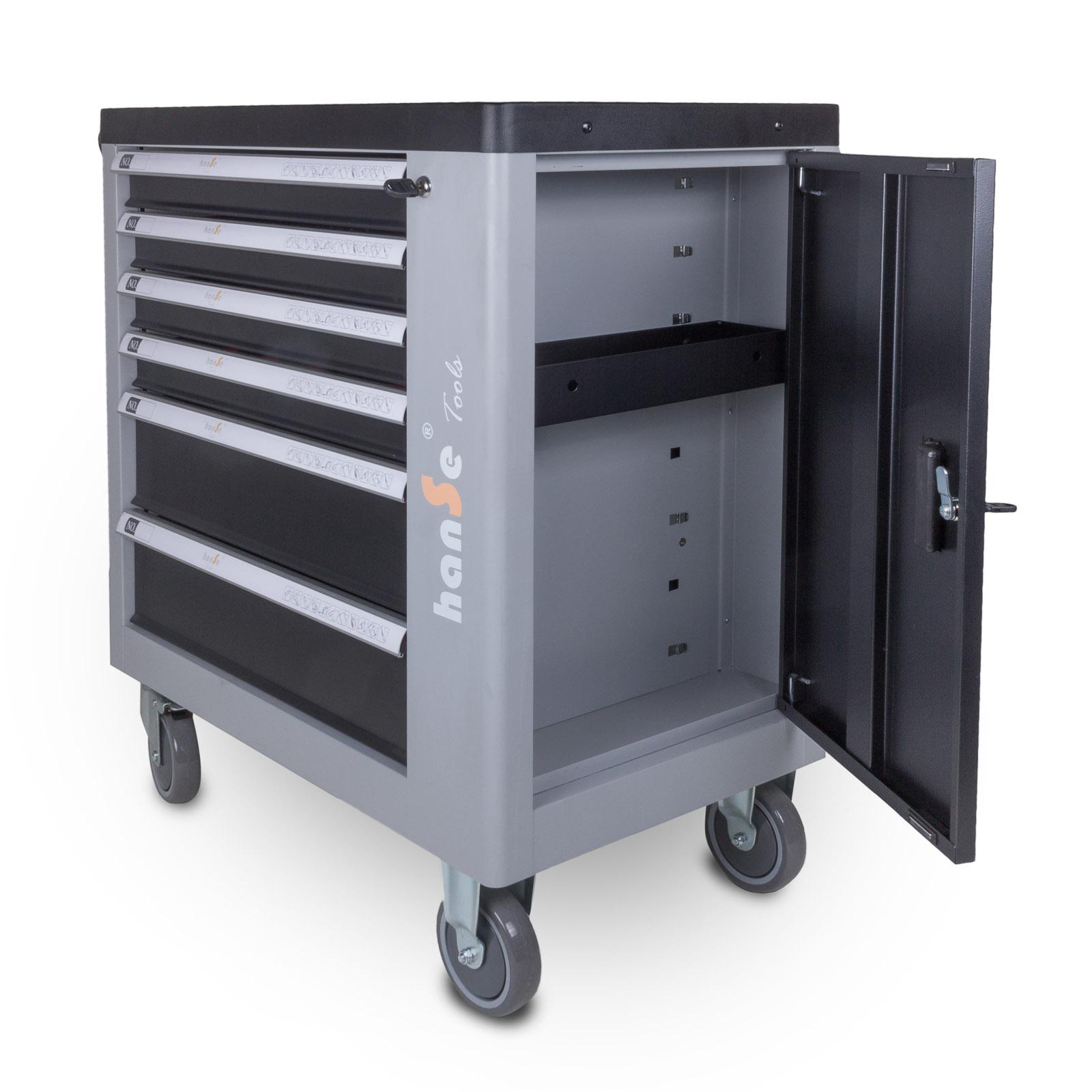 hanse® marken werkstattwagen gefüllt mit 245-teiligem