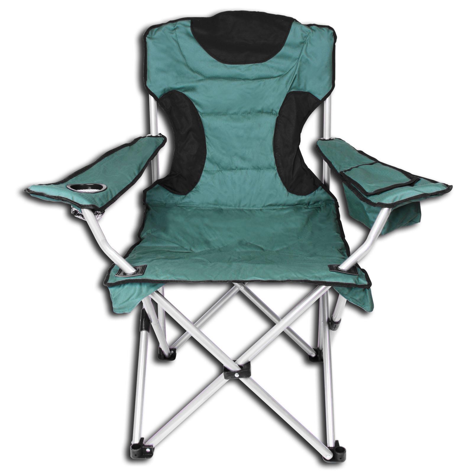 Chaise Chaise Chaise de Camping Pliante Rembourré Incl. Sac Isotherme Gris ou Rouge 1afd60