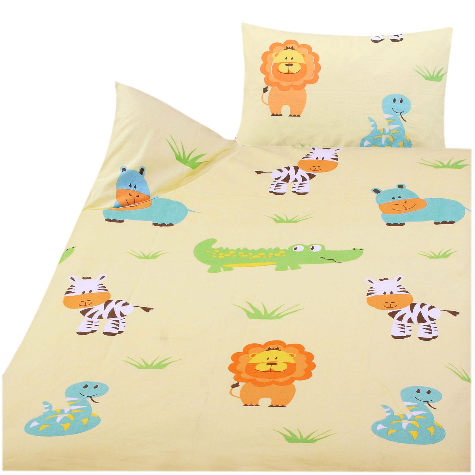 kinder bettw sche 100 baumwolle 100x135 40x60cm zootiere des 42323 3 ebay. Black Bedroom Furniture Sets. Home Design Ideas