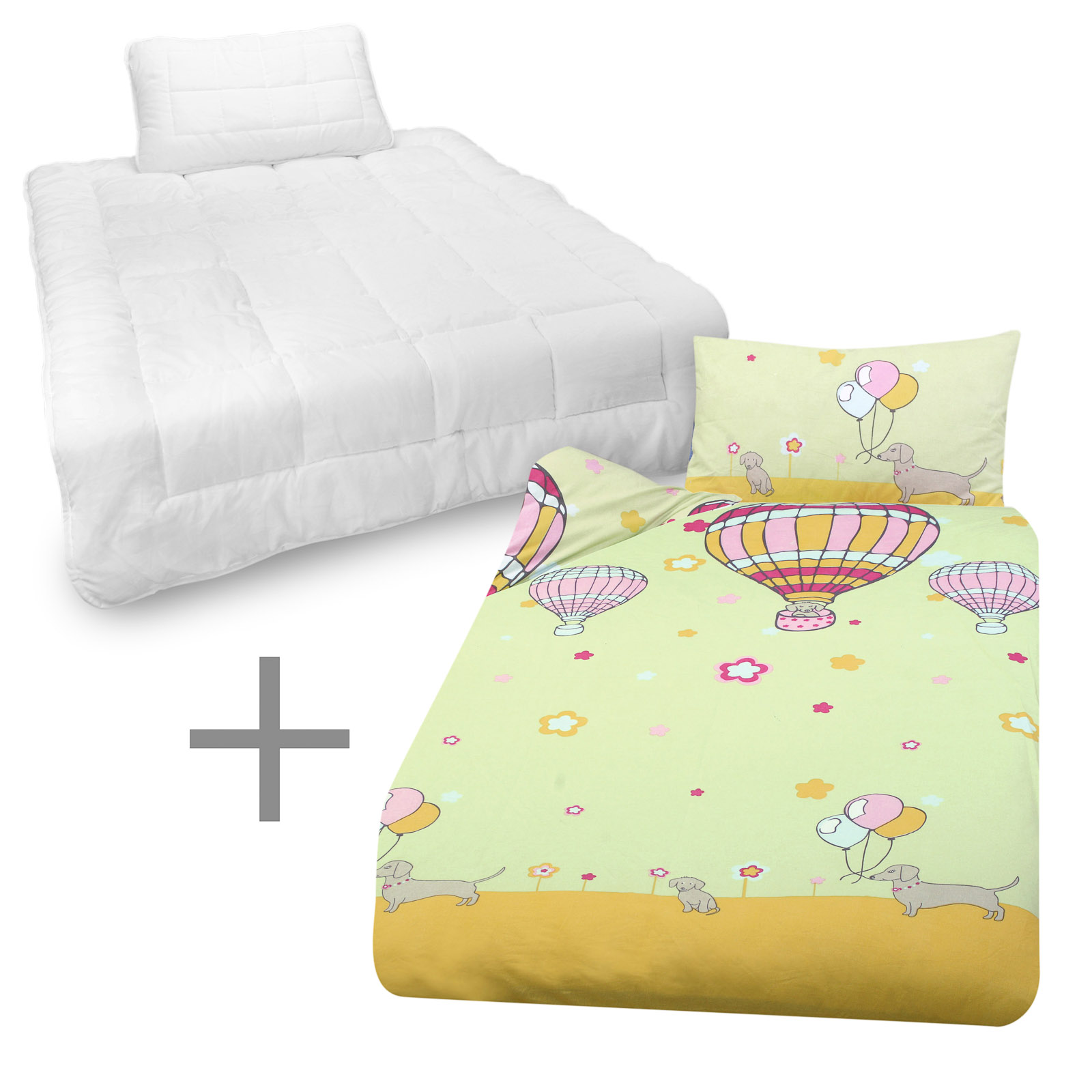 kinder bettw sche bettdecke kissen 135x100 40x60cm. Black Bedroom Furniture Sets. Home Design Ideas