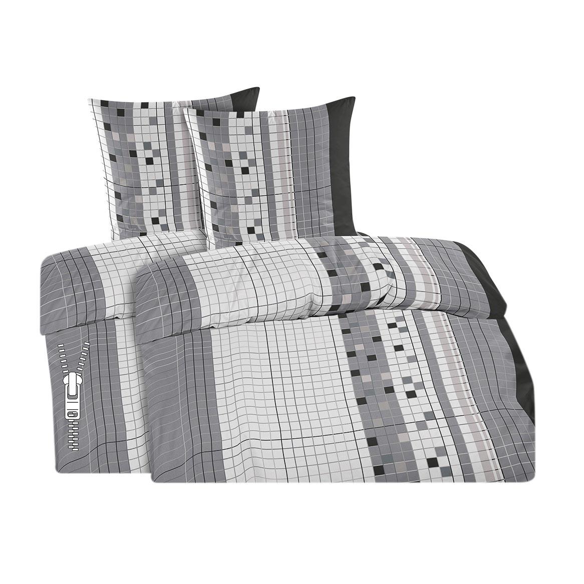 4 teilige feinbiber bettw sche 2 x bettbezug 135x200 2 x kissenbezug 80x80cm ebay. Black Bedroom Furniture Sets. Home Design Ideas