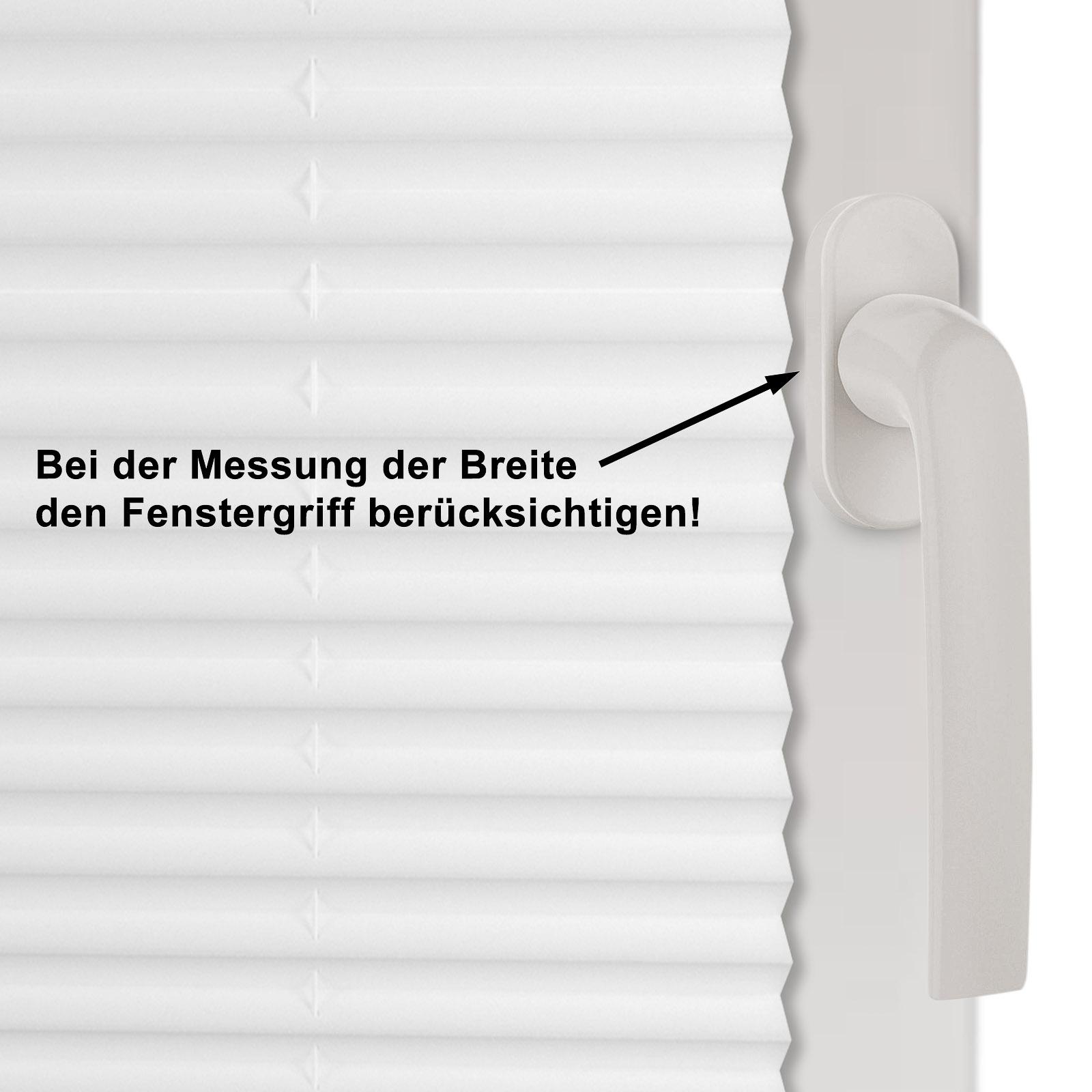 klemmfix plissee f r t ren wei oder beige leichte montage ohne bohren ebay. Black Bedroom Furniture Sets. Home Design Ideas