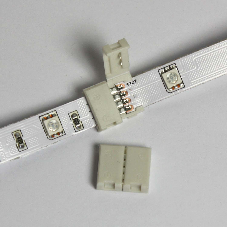 led rgb stripe zubeh r verbinder verl ngerung anschlussst ck ebay. Black Bedroom Furniture Sets. Home Design Ideas